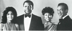 L-R — Tracey Reed, Sidney Poitier, Denise Nicholas, Bill Cosby