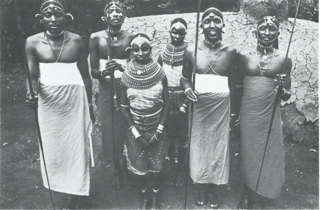 Distinctively Clad Masai Natives