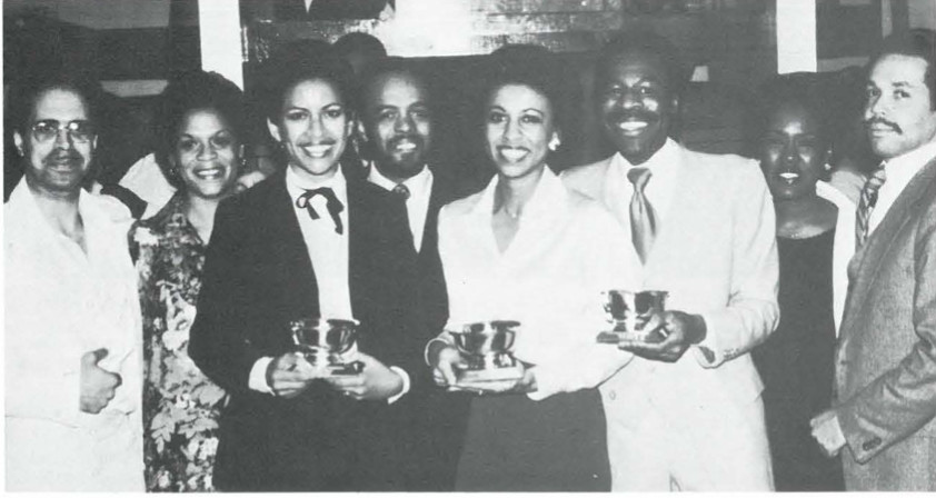Left to right: Rick Blake, Mary Andrade, Diane Lacey, Nat Robinson, Doris McMillon, Ron Bunn, Barbara W. Gardiner, Ray Gittens.
