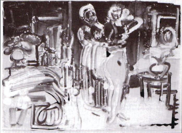 New Orleans Storyville: Ragtime Preparations (1912) by Romare Bearden