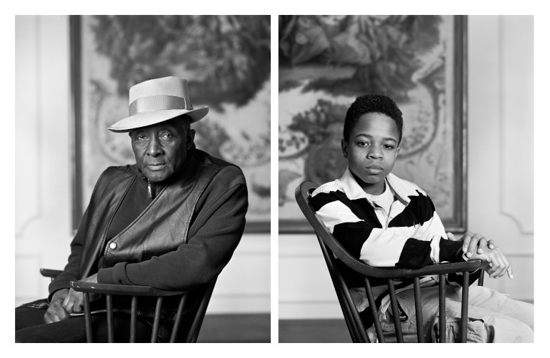 """Dawoud Bey's series of black-and-white photographic portraits. """"Grief and Grievance: Art and Mourning in America,"""" 2021. Exhibition view: New Museum, New York. Photo: Dario Lasagni"""