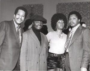 (l-r) Unknown,Donny Hathaway, Barbara Harris, LaBaron Taylor