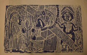 """""""Burden Of Injustice"""", Woodcut, 1968"""