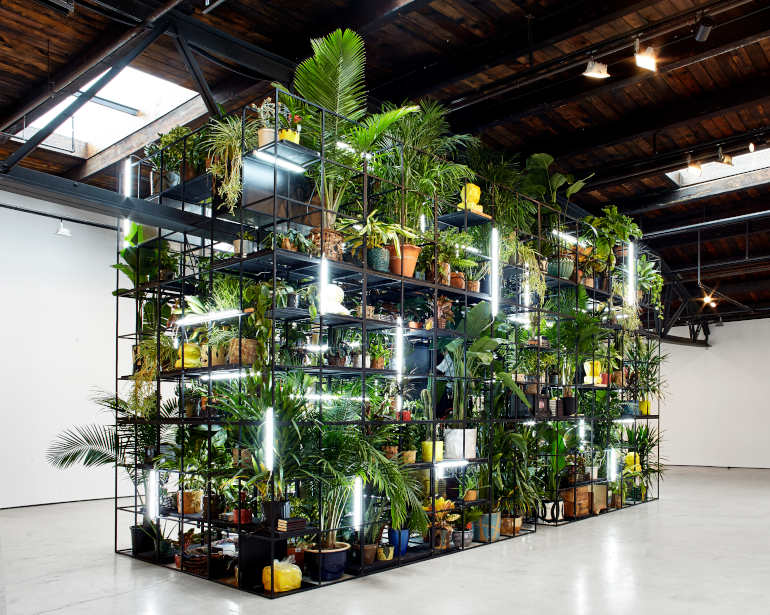 """""""Antoines Organ"""", Artist Rashid Johnson Peace Keeper, Artist Nari Ward """"Grief and Grievance: Art and Mourning in America,"""" 2021. Exhibition view: New Museum, New York. Photo: Dario Lasagni"""