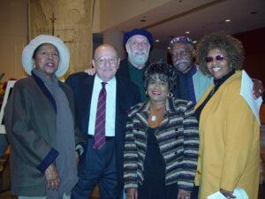 l-r Barbara Harris, Arif Mardin, Joel Dorn, Bobby Humprey, Fathead Newman, Cissy Houston- Photo by Jim Cummins