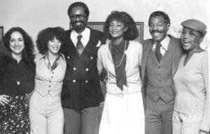 (l-r) Marion Somerstein, Linda Creed, Ron Johnson, Eloise Laws, Ron Bunn, Barbara Harris at the Plaza Hotel