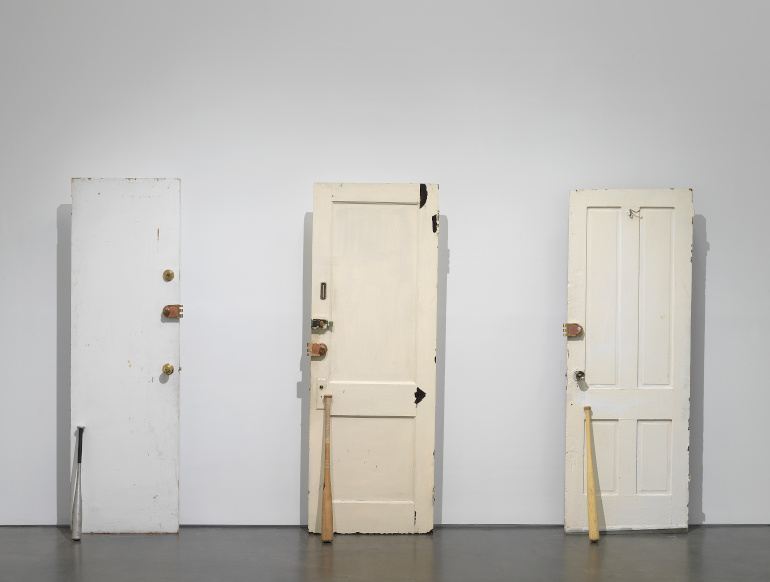"""Diamond Stingily's """"Entryways"""", """"Grief and Grievance: Art and Mourning in America,"""" 2021. Exhibition view: New Museum, New York. Photo: Dario Lasagni"""