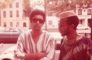 Ademola with Robert Macbeth, founder of the New Lafayette Theatre - Photographer Unknown circa Harlem, 1969