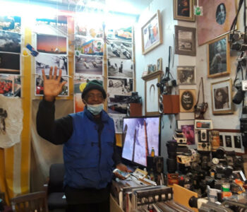 Alex Harsley inside Fourth Street Photo Gallery