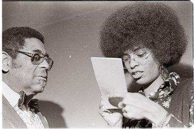 Dizzy Gillespie and Angela Davis