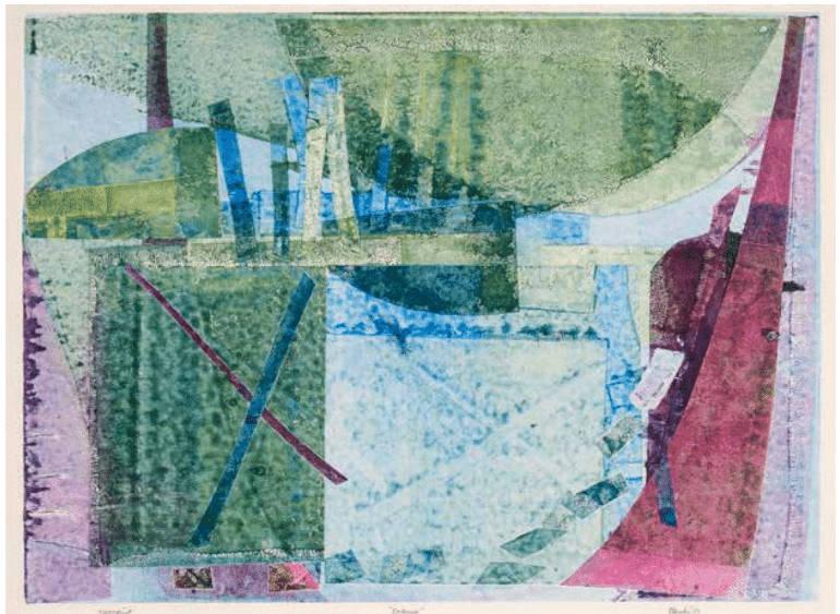 Betty Blayton-Taylor, Detours #3, 1998, monoprint, 19 1⁄2 x 28 in. © Betty Blayton-Taylor Estate. Courtesy Wiliam Burgess II, The Burgess Fine Arts Collection