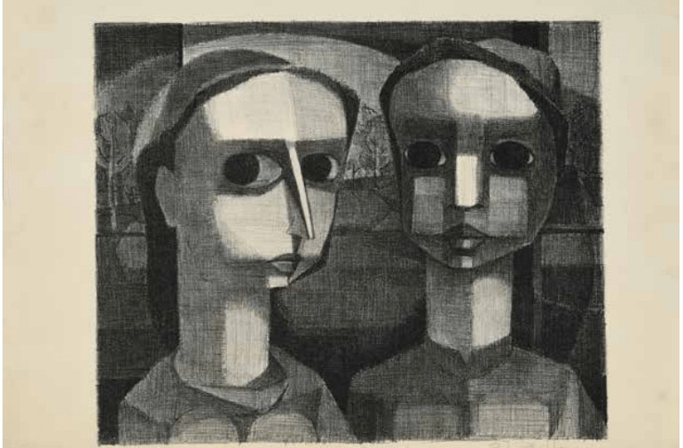 Robert Blackburn, Youth, 1944, lithograph, 10 3⁄8 x 12 1⁄2 in. Permanent Collection of The Art Students League