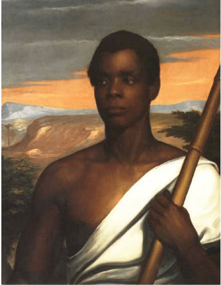 Joseph Cinque, Portrait, by Nathaniel Jocelyn (1796—1881), Oil on canvas, c. 1840, 30 1⁄4 x 25 1⁄2. Commissioned by African American abolitionist, Robert Purvis, Esq; donated,1898, by his son to New Haven Museum and Historical Society, CT