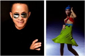Stephen Burrows portrait & design worn by model Pat Cleveland. Photo Credit: Charles Tracy.